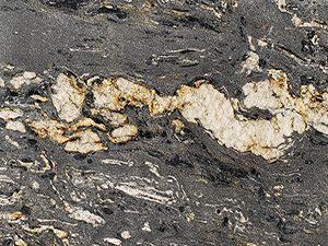 Close-up of Black Cosmic granite slab