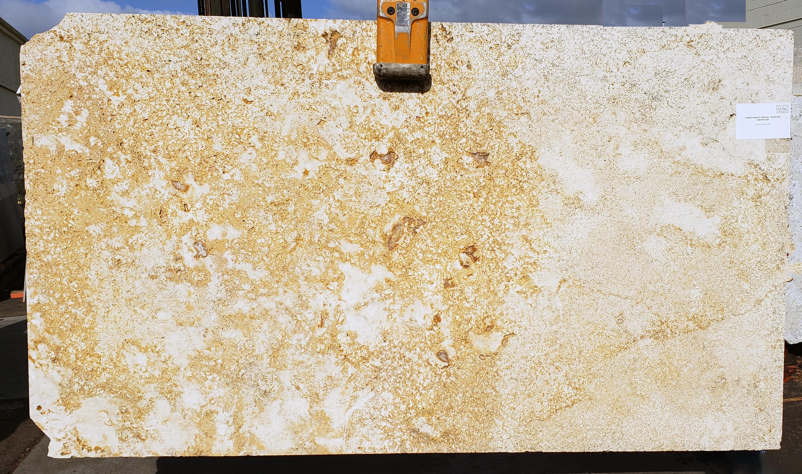 Chablis full travertine slabs