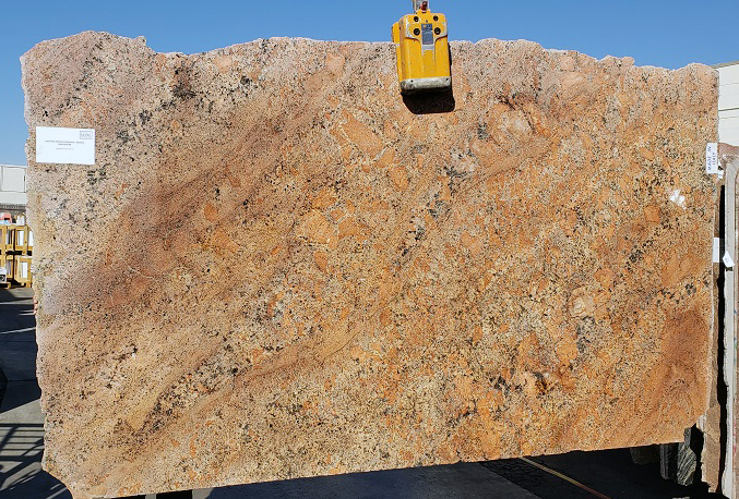 Juparana Bordeaux full granite slab