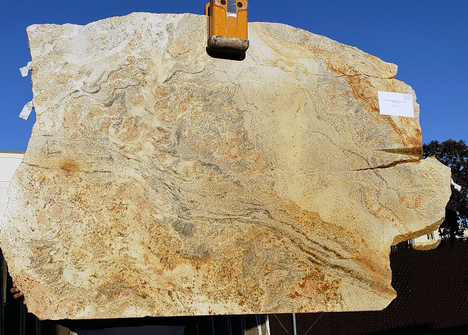 Juparana Champagne full granite slab
