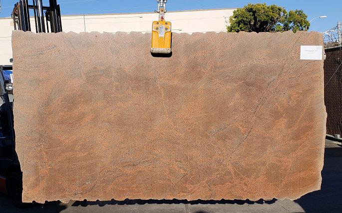 Juparana Tabacco full granite slab