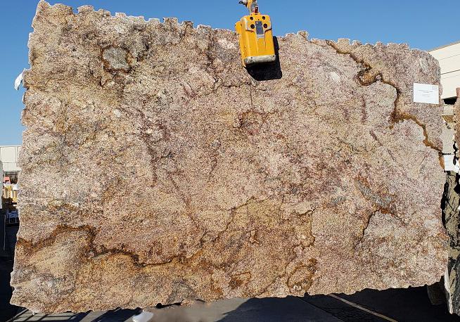 Red Montana full granite slab