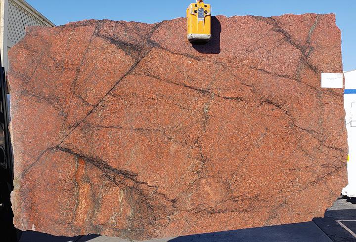 Sunset Red full granite slab